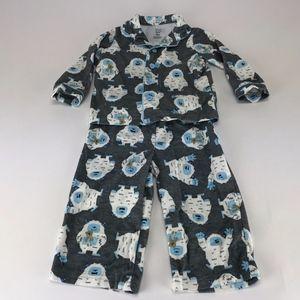 2 Piece Pajama Set Just One You- Yeti & Teddy Bear